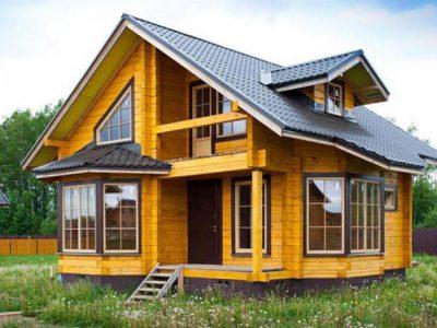 Дома для круглогодичного проживания оцилиндрованного бревна