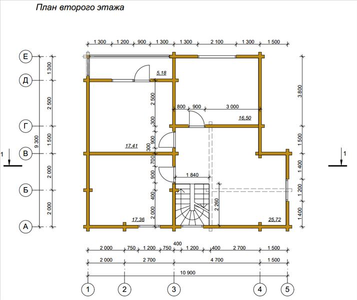 Проект дома из бруса 9х11 с балконом - план и цена москва, с.