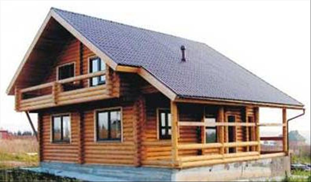 Деревянные дома с балконом фото.